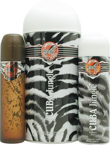 Cuba Jungle Zebra By Cuba For Women. Set-eau De Parfum Spray 3.3 Ounces & Deodorant Spray 6.7 (Cuba Zebra)