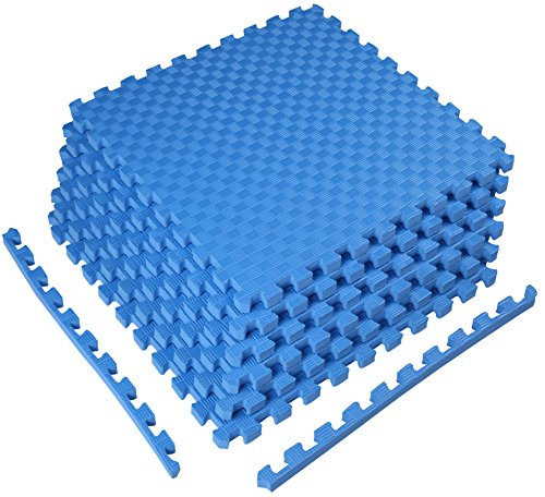 """BalanceFrom 1"""" Puzzle Mat with EVA Interlocking Tiles for MMA, Exercise, Gymnastics and Home Gym Flooring"""