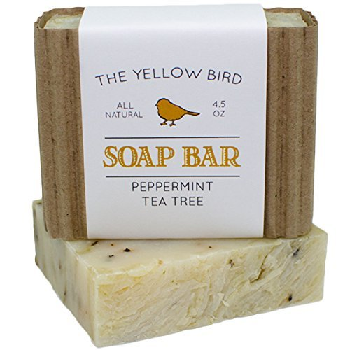 Peppermint & Tea Tree Bar Soap. Natural Antifungal Cleanser. Everyday Body, Face, and Hand Wash. Helps fight Athlete's Foot, Ringworm, and Jock Itch. Handmade in USA. by The Yellow Bird