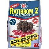 RATIBROM 2 - Raticida veneno contra roedores, ratas y ratones 1kg