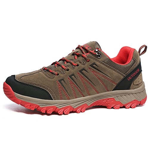 GOMNEAR Trekking Shoes Hiking Boots Men Non Slip Winter Low Top Outdoor Sport Climbing Sneakers Khaki AKNGclz