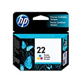 HP 22 Tri-color Original Ink Cartridge (C9352AN) for HP Deskjet D1311 D1320 D1330 D1341 D1420 D1430 D1445 D1520 D1530 D2330 D2460 F340 HP Officejet 4315 5610 J3680 HP PSC 1410 HP 3180