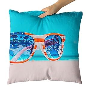 Westlake Art Decorative Throw Pillow - Eyewear Blue - Photography Home Decor Living Room - 16x16in