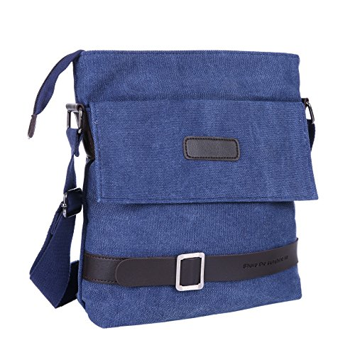 Mfeo Vintage Retro Canvas Messenger Bag Cross-Body Bag Small Bag Purse
