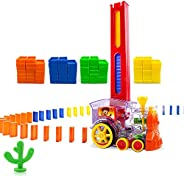 Domino Train, Domino Blocks Set, Building and Stacking Toy Blocks Domino Set for 3-7 Year Old Toys, Boys Girls