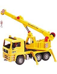 (历史最低)德国制造完美1:16吊车 Bruder MAN Crane Truck $23.62