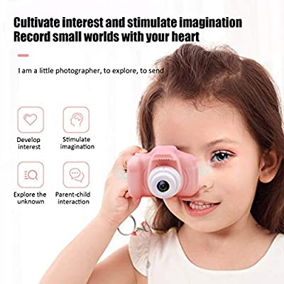 Detectorcatty HD Screen Chargable Digital Mini Camera Kids Cartoon Cute Camera Toys Outdoor Photography Props for Child Birthday Gift: Toys & Games