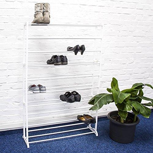 Relaxdays 10017176 zapatero xxl hasta para 50 pares de for Zapatero para 30 pares de zapatos