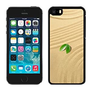 NEW Unique Custom Designed iPhone 5C Phone Case With Small Green Leaves Sand_Black Phone Case