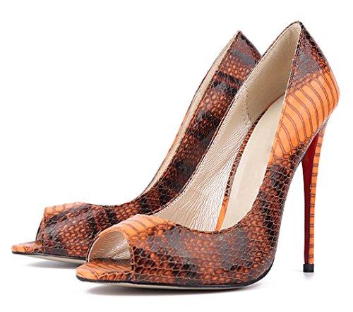 TDA - Zapatos con tacón mujer marrón