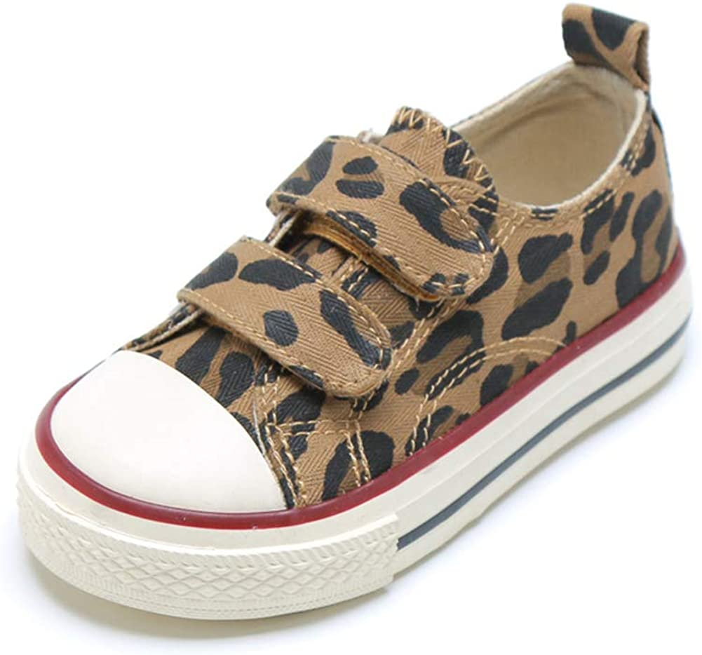 Kids Casual Canvas Sneakers for Girls Casual Slip-on Running Walking Shoes Sneaker Loafer Flats Fashionme Toddler Boys Girls Cute Leopard Shoes Stylish
