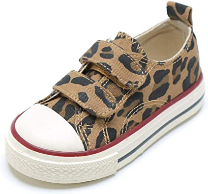 O/&N Boys Girls Casual Classic Strap Sneakers Kids Canvas Shoes