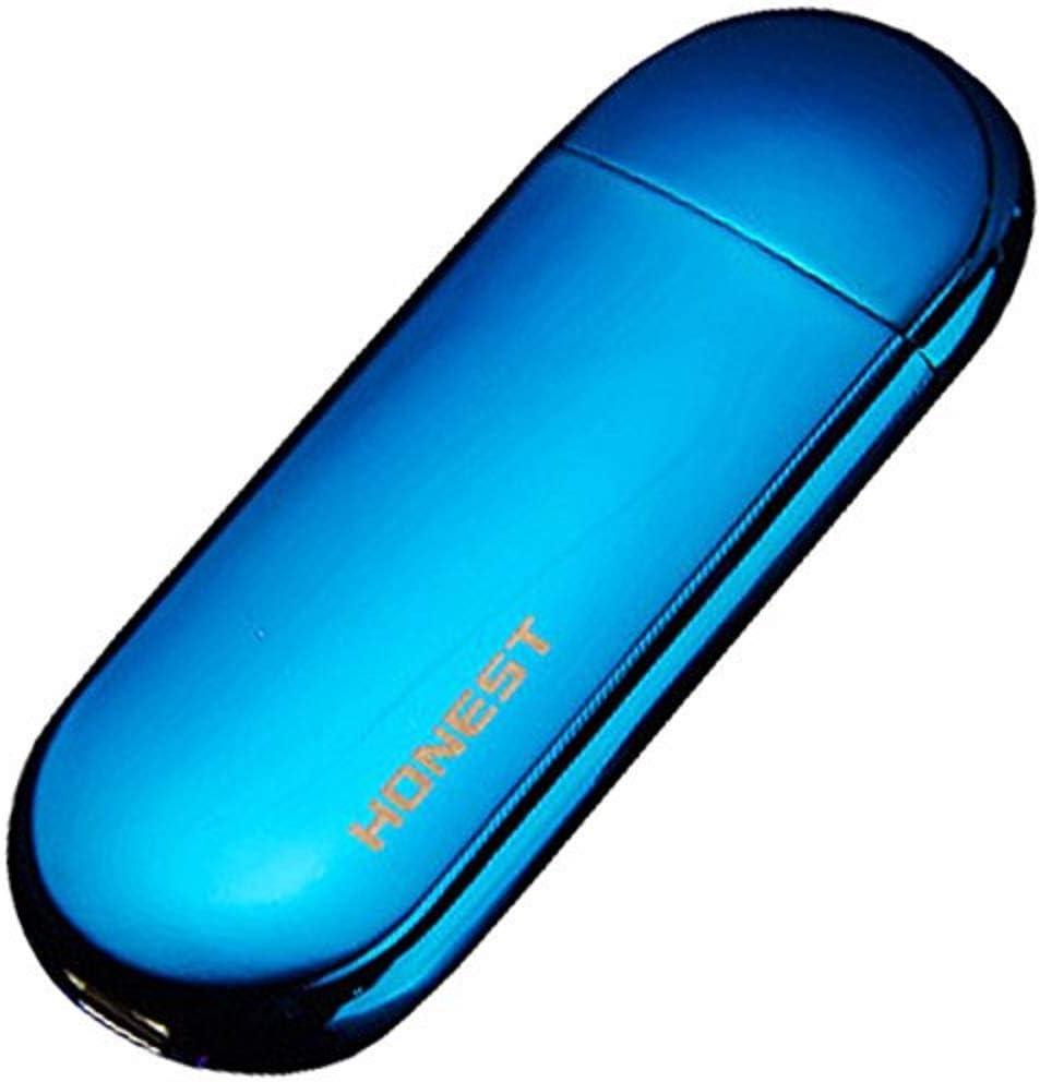 リタプロショップⓇ 振るだけで点火 USB電子ライター USB接続 防風 軽量 極薄 おしゃれ プレゼント (ブルー)