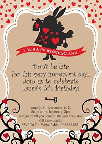 10 Invitaciones De Cumpleaños Personalizadas Para Niños Con