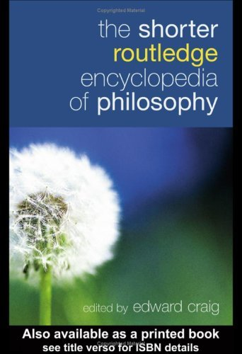Download The Shorter Routledge Encyclopedia of Philosophy Pdf