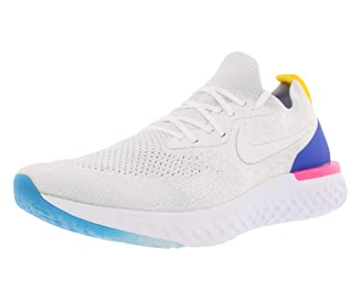 best service 41149 71912 Nike Men s Epic React Flyknit, White Racer Blue, ...