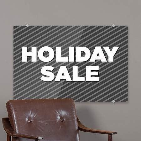 Stripes Gray Premium Brushed Aluminum Sign CGSignLab 27x18 Holiday Sale