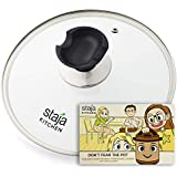 Glass Lid Accessory for Instant Pot 6 Quart, Clear Tempered, 9 inch (23cm) | Free Beginner's Guide to Electric Pressure Cooking