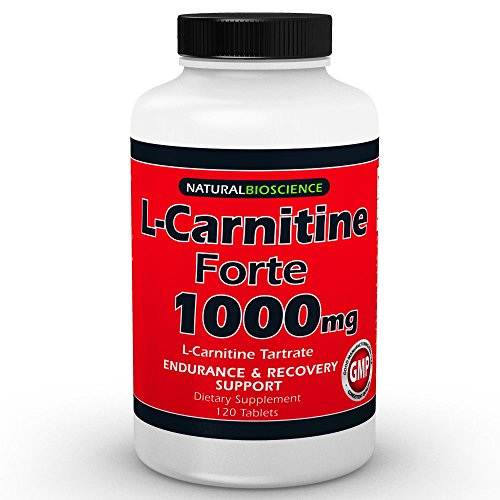 L-Carnitine Tartrate - 1000mg - 120 Double Potency Tablets - Provides Support for Fat Metabolism, Healthy Energy Levels, Athletic Performance, Exercise Endurance, Workout Capacity, Post-Exercise Recovery, Healthy Heart and Muscles - 100% Pure - GMO-Free -