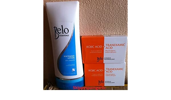 Belo Essentials Whitening Lotion with SPF 30 200ML and Belo Kojic Acid  +Tranexamic Acid Whitening Soap