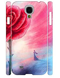 3D Print Unique Red Rose Flower Design Durable Cell Phone Back Case for Samsung Galaxy S4 I9500