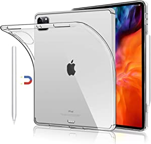 "Clear Back Cover Cases for iPad Pro 12.9 inch 4th Generation 2020 and 3rd Generation 2018, Support Apple Pencil 2nd Gen Charging, Case for iPad Pro 12.9"" 4th/3rd Gen"