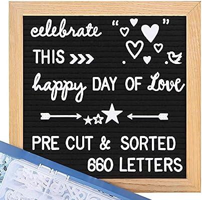 Amazon.com: Pizarra de fieltro con letras – 600 letras ...