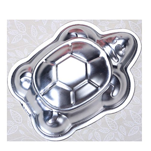(2 PCS Mini Small Aluminum Cake Mould Turtle Shape Cake Pan Decorating Mould Pudding Chocolate Jelly Tins Baking Tool)