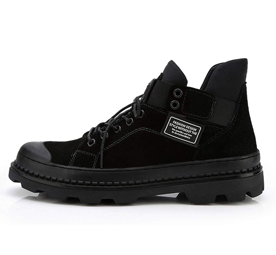 Männer Martin Stiefel Leder Leder Leder matteThick Basis erhöhte Baumwolle Schuhe schnüren Wasserdichte gepolsterte Freizeitschuhe Herbst und Winter im Freien 173f0c