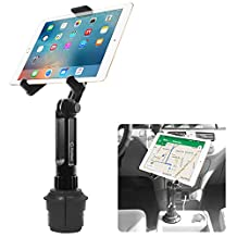 Cup Holder Tablet Mount, Tablet Car Mount Holder Made by Cellet with a Cup Holder Base for iPad Mini/Air 2/Air/iPad 4/3/2 Samsung Galaxy Tab 4/3 and More - Holds Tablets up to 9.7 inches in Width