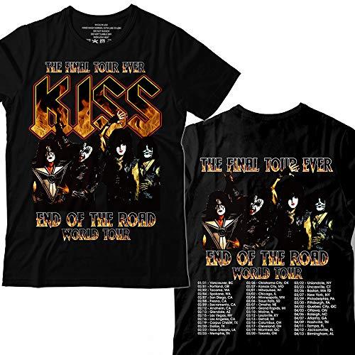 Kiss Fire World Rock and Roll Music Gift Tour Band T-Shirt - Tour Concert T-shirt