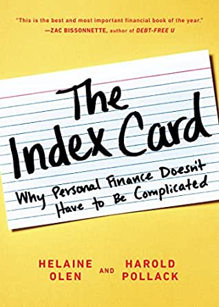 Amazon the index card why personal finance doesnt have to be print list price 1300 fandeluxe Choice Image