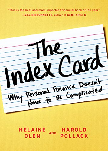The Index Card Why Personal Finance Doesn T Have To Be Complicated