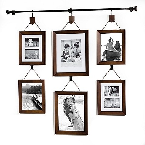 Wall Solutions Hanging Gallery, 8 photo capacity | Two 8''x10'' | One 11''x14'' | One 10''x13'' by Wall Solutions