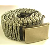 "1 3/4"" Paracord Survival Belt(45ft+ Cord)-Adjustable Flip-top Buckle"