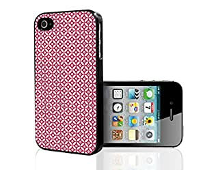 Red Print Hard Snap on Phone Case (iPhone 4/4s)