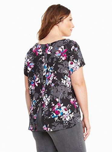 Floral Georgette Button Back Top