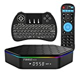 EVANPO Android TV Box T95Z PLUS Amlogic S912 Qcta-core Dual Band Wifi 4K2K 3GB/32GB Smart Media TV Player Android Mini PC with Wireless Keyboard remote (BACKLIT)