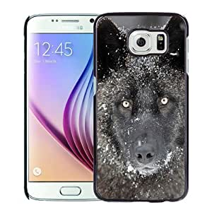 Fashionable Custom Designed Samsung Galaxy S6 Phone Case With Wolf Eye Contact_Black Phone Case