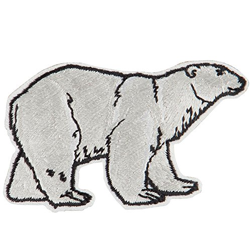 - Polar Bear Embroidered Patch - White OSFM