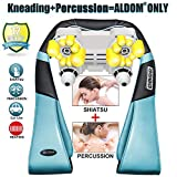 Neck and Back Massager with Deep Heat Kneading and Percussion - Aldom - Shiatsu Shoulder Massager for Relieving Muscle Pain and Stress, Carry Bag Included, Perfect for Home, Car, Office