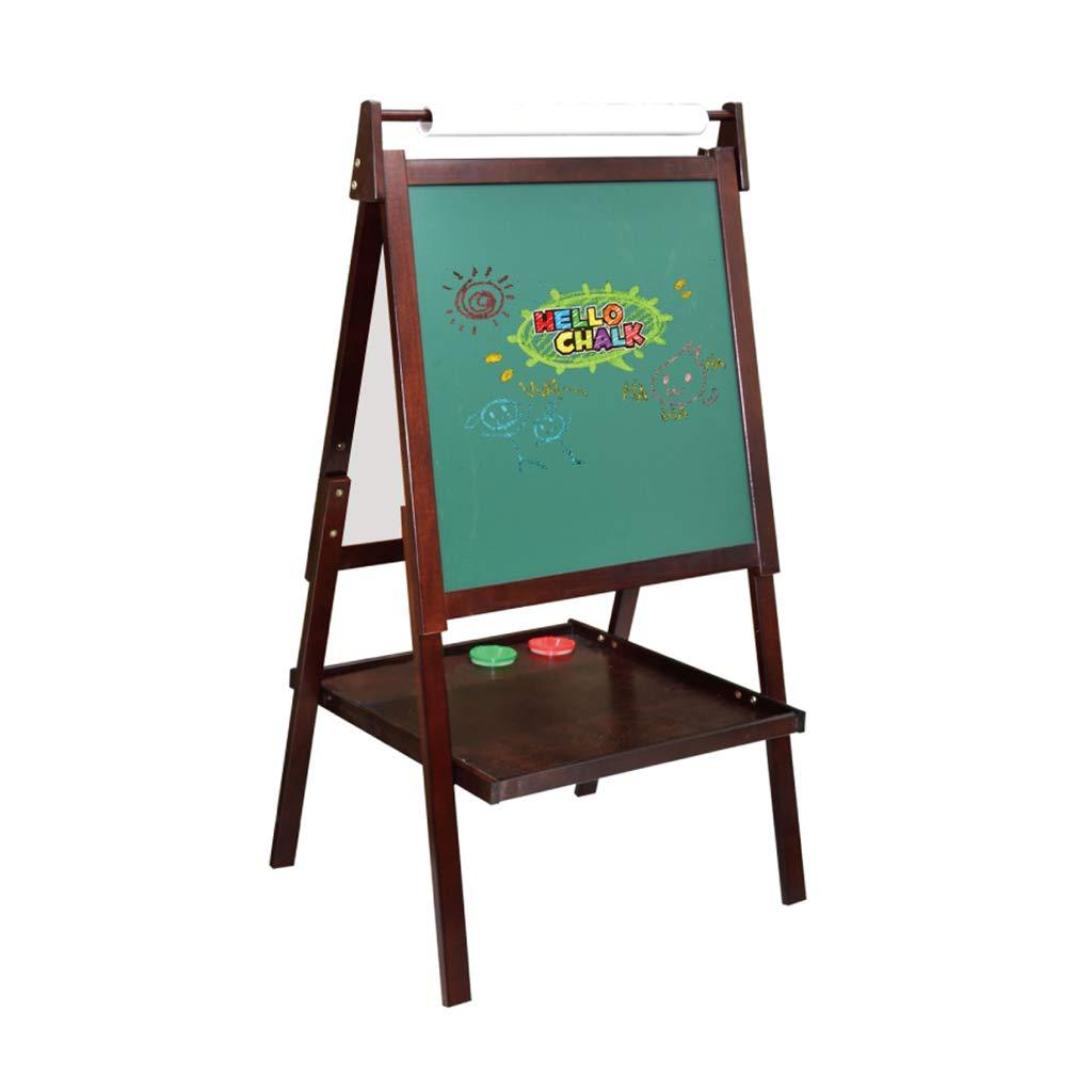 Cavalletto per bambini in legno massello bifacciale magnetico può essere alzato e abbassato tavolo da disegno per bambini cavalletto lavagna Lavagnette Lavagne