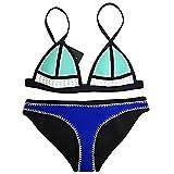 FLORAVOGUE FARRAH PASTEL Crochet Swimwear Neoprene Bikini Set