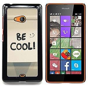 """A-type Arte & diseño plástico duro Fundas Cover Cubre Hard Case Cover para Nokia Lumia 540 (Funny Beach Tiburón Agua sesión"""")"""