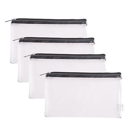 028ab6f3ea Amazon.com : Augbunny Zipper Clear Vinyl Security Bank Deposit ...