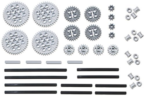 LEGO 46pc Technic gear & axle SET (Works with Mindstorms NXT, EV3, Bionicles and more LEGO creations!) -