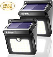 ZOOKKI Outdoor Solar Motion Sensor Lights