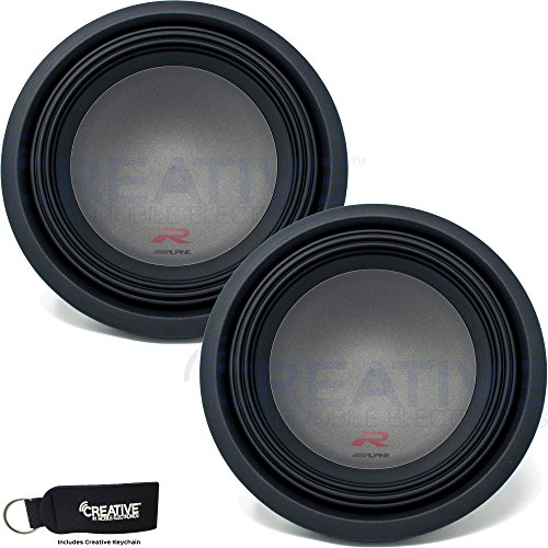 Alpine Two R-W12D4 R-Series 12-Inch Dual 4 Ohm Subwoofers bundle