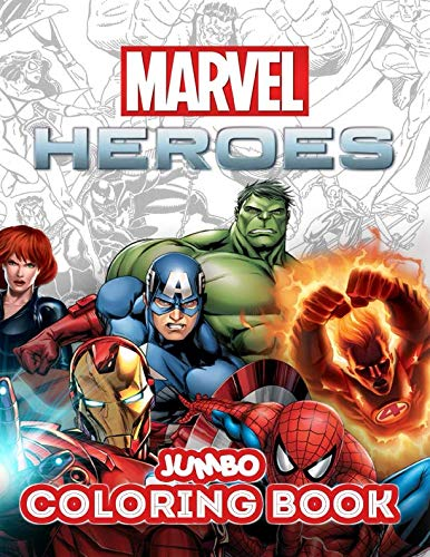 Marvel Heroes Jumbo Coloring Book: Great Coloring Book for Kids and Any Fan of Marvel Heroes (Perfect for Children Ages 4-12) ()