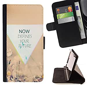 DEVIL CASE - FOR HTC Desire 820 - Not Nature Defines Inspiring Moment - Style PU Leather Case Wallet Flip Stand Flap Closure Cover